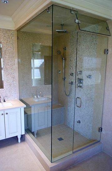 Elegant Glass 10mm Frameless Steam Shower Door With Vent Panel