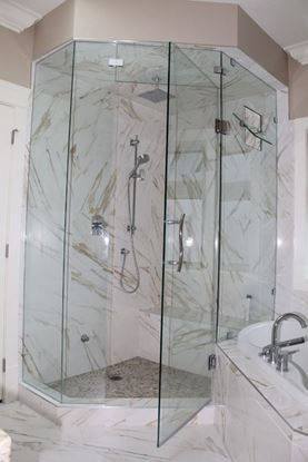 10mm Frameless Neo Angle with Double Transom