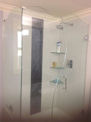 10mm (S) Shape Frameless Shower Door with Wave on Top