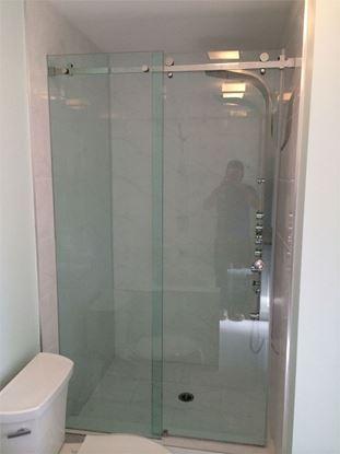 10mm Frameless Shower Slider with Roller on Top