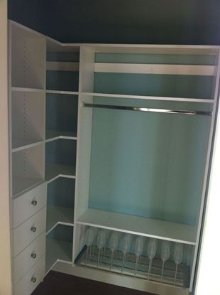 Wood Closet Organizers with Drawers & Shelves & Shoe Rack