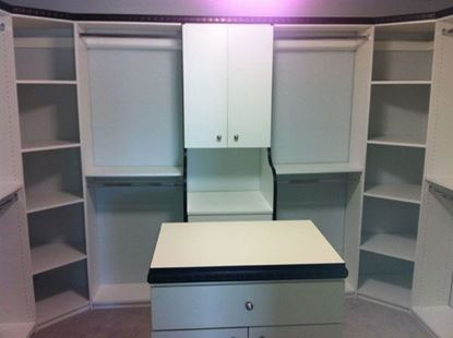 Wood Closet Organizers with Shelves, White Color